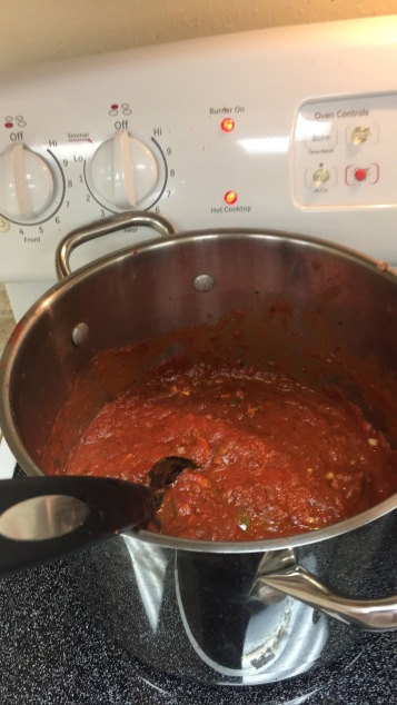 The sauce that I made.