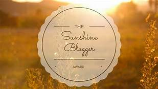Sunnshine blogger award